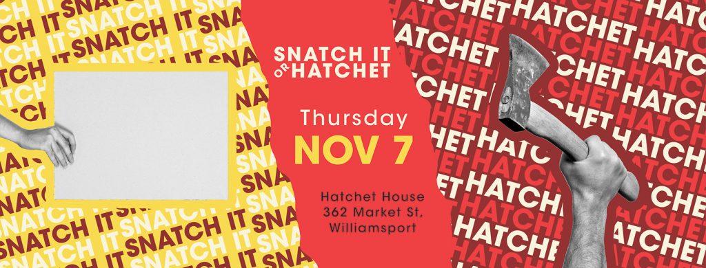 Snatch It or Hatchet Promotional Materials