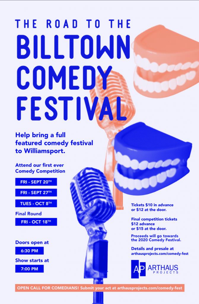 Billtown Comedy Festival Postcard