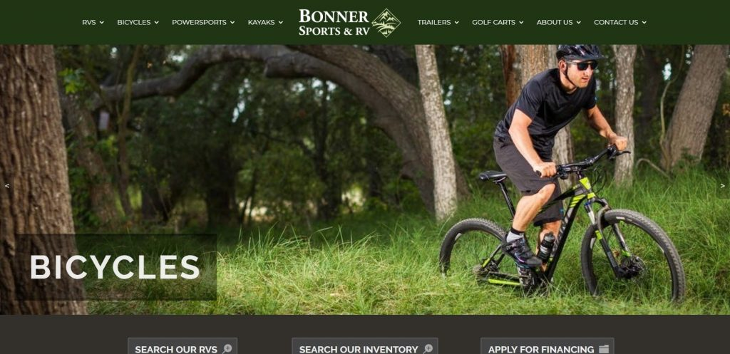 The Graphic Hive Redesigns Bonner Sports & RV's Website