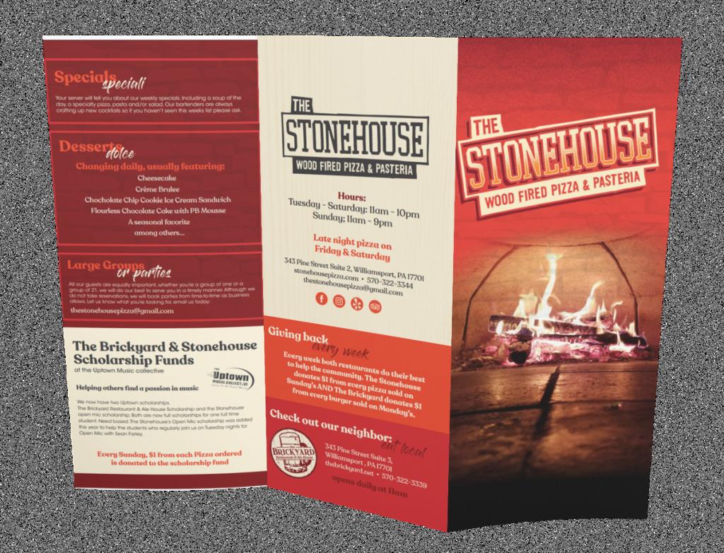 The Stonehouse Menu