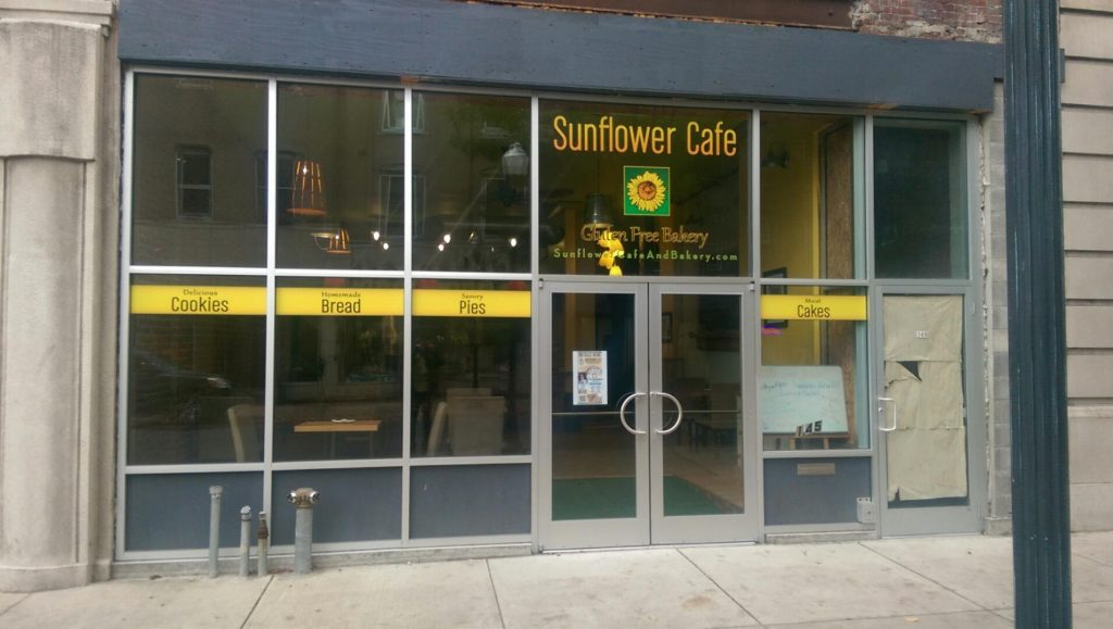 Sunflower Cafe Signage