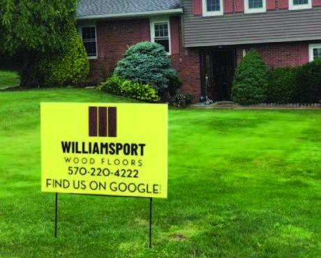 Williamsport Wood Floors Sign
